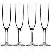 Drinique Unbreakable Elite Set of 4 Champagne Flutes