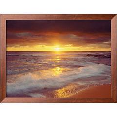 Art.com Sunset Cliffs Beach Framed Photo Wall Art
