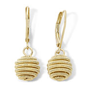 Monet® Gold-Tone Coiled Sphere Drop Earrings