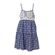 Pinky Printed Crochet Dress - Preschool Girls 4-6x