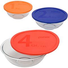 Pyrex® Smart Essentials 6-pc. Mixing Bowl Set