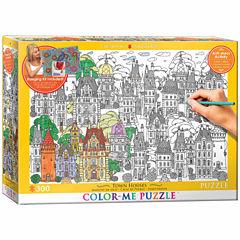 Eurographics Inc Color-Me Puzzle - Town Houses: 300 Pcs