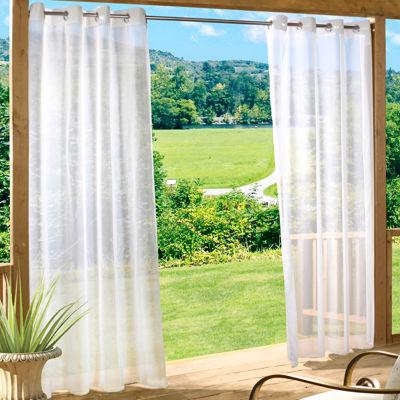 Escape Solid Grommet Top Outdoor Curtain Panel