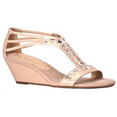 New York Transit Bright Light Womens Wedge Sandals