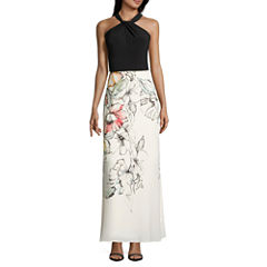 Danny & Nicole Sleeveless Maxi Dress-Petites