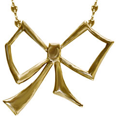 dom by dominique cohen Gold-Tone Bow Pendant Necklace