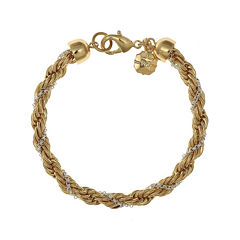 Monet® Gold-Tone and Silver-Tone Twist Flex Chain Bracelet
