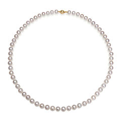 AA Quality Cultured Freshwater Pearl 14K Yellow Gold 18