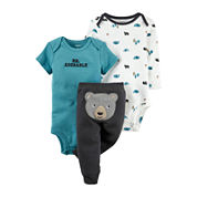Carter's® 3-pc. Bear Short-Sleeve Layette Set - Baby Boys newborn-24m