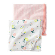 Carter's® 2-pk. Pink Floral Swaddle Blankets - Baby Girl newborn-24m
