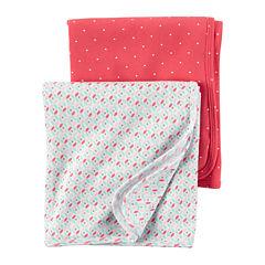 Carter's® 2-pk. Pink Geo Swaddle Blankets - Baby Girl newborn-24m