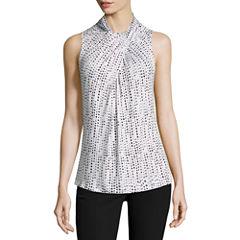 Worthington Sleeveless Twist Neck T-Shirt