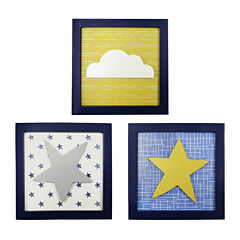 The Peanut Shell® Stargazer 3-pc. Wall Art Decor Set