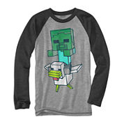 Minecraft Long-Sleeve Novelty Raglan Shirt - Boys 8-20