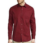 Claiborne® Long-Sleeve Slim-Fit Woven Shirt