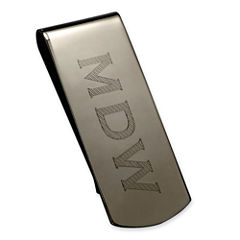 High Polished Personalized Mirror Finish Money Clip