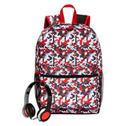 Digi Camo Backpack with Headphones