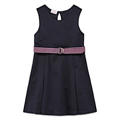 IZOD® Sleeveless Belted Knit Dress - Preschool Girls 4-6x