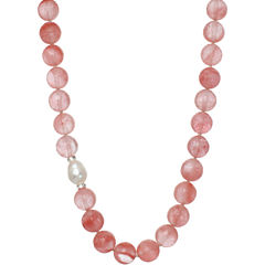 ROX by Alexa Red Glass Beaded Necklace