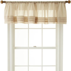 voile valances curtains & drapes for window - jcpenney