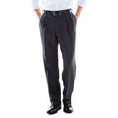 Haggar® eCLo™ Stria Classic-Fit Pleated Dress Pants