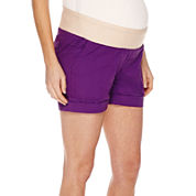 a.n.a® Maternity Relaxed-Fit Poplin Shorts