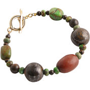 Art Smith by BARSE Gemstone & Wood Toggle Bracelet