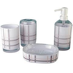 Plaid 4-pc. Bath Accessories Set