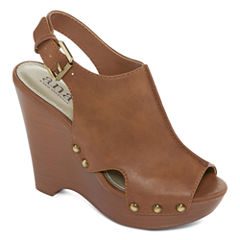 a.n.a Marigold Womens Wedge Sandals