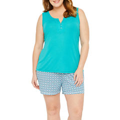 Liz Claiborne Shorts Pajama Set-Plus