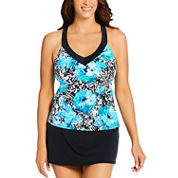 St. John's Bay Floral Tankini Swimsuit Top or Swim Skirt