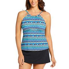 St John's Bay High Neck Tankini Gigi Swimsuit Top or Swim Skirt