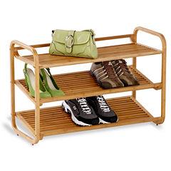 Honey-Can-Do® 3-Tier Deluxe Bamboo Shoe Shelf