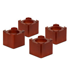 Honey-Can-Do® Set of 4 Wood Bed Risers
