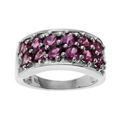 Genuine Rhodolite Sterling Silver Ring