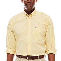 Biscayne Bay Long-Sleeve Mini-Check Button-Down Shirt