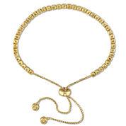 Womens Yellow Citrine Sterling Silver Bolo Bracelet