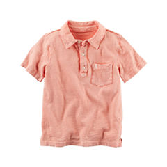Carter's Short Sleeve Solid Knit Polo Shirt - Toddler Boys