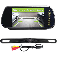 Pyle PLCM7400BT Bluetooth Backup Camera & MonitorSystem with 7IN Mirror-Mount Display Screen