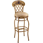 Rooster Swivel Barstool with Back