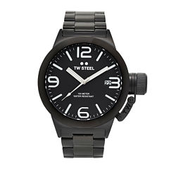TW Steel Canteen Bracelet Mens Black Stainless Steel Link Watch