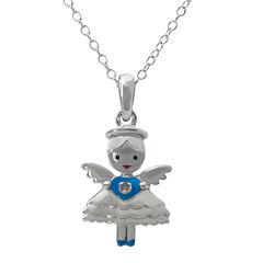 Hallmark Kids Diamond-Accent Sterling Silver Angel Pendant Necklace