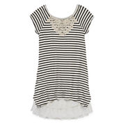 Knit Works® Cap-Sleeve Striped Swing Dress - Girls 7-16