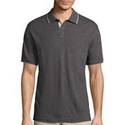 Claiborne® Short-Sleeve Interlock Polo