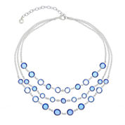 Gloria Vanderbilt Womens Blue Strand Necklace