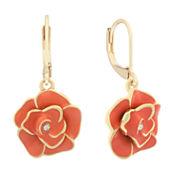 Gloria Vanderbilt Orange Crystal Drop Earrings