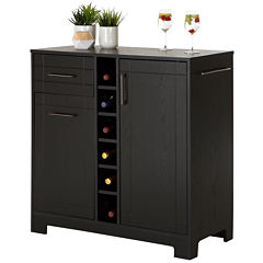 Vietti Bar Cabinet with Bottle and Glass Storage