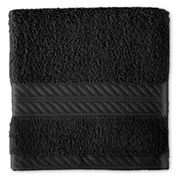 Royal Velvet® Premium Cotton Black Washcloth