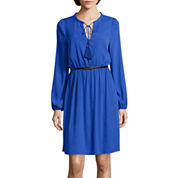 nicole by Nicole Miller® Long-Sleeve Belted Shirtdress