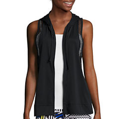 City Streets® Mesh Hoodie Vest - Juniors